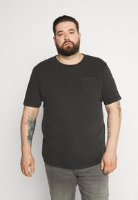 Jack & Jones - WASH TEE CREW NECK CAMP - Basic T-shirt - black - 0