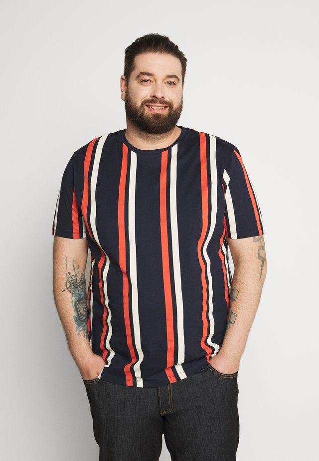JORJERRY TEE CREW NECK  - T-Shirt print - navy blazer