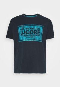 Jack & Jones - JCOTATE TEE  CREW NECK - Print T-shirt - sky captain - 3