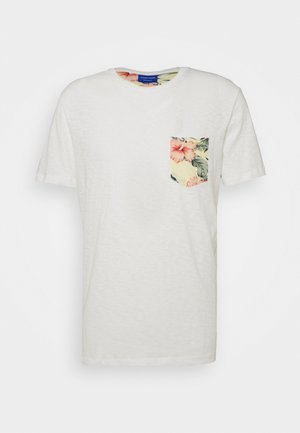 JORELIPOCKET TEE CREW REGULAR FIT - T-Shirt print - cloud dancer