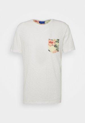 JORELIPOCKET TEE CREW REGULAR FIT - T-shirt print - cloud dancer