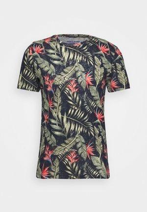 JORELI TEE CREW NECK - Printtipaita - navy blazer