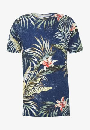 JORELI TEE CREW NECK - T-shirt med print - blue depths