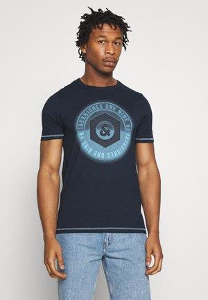 JCOLOGO-UNIVERSE TEE CREW NECK - T-shirt print - dark blue