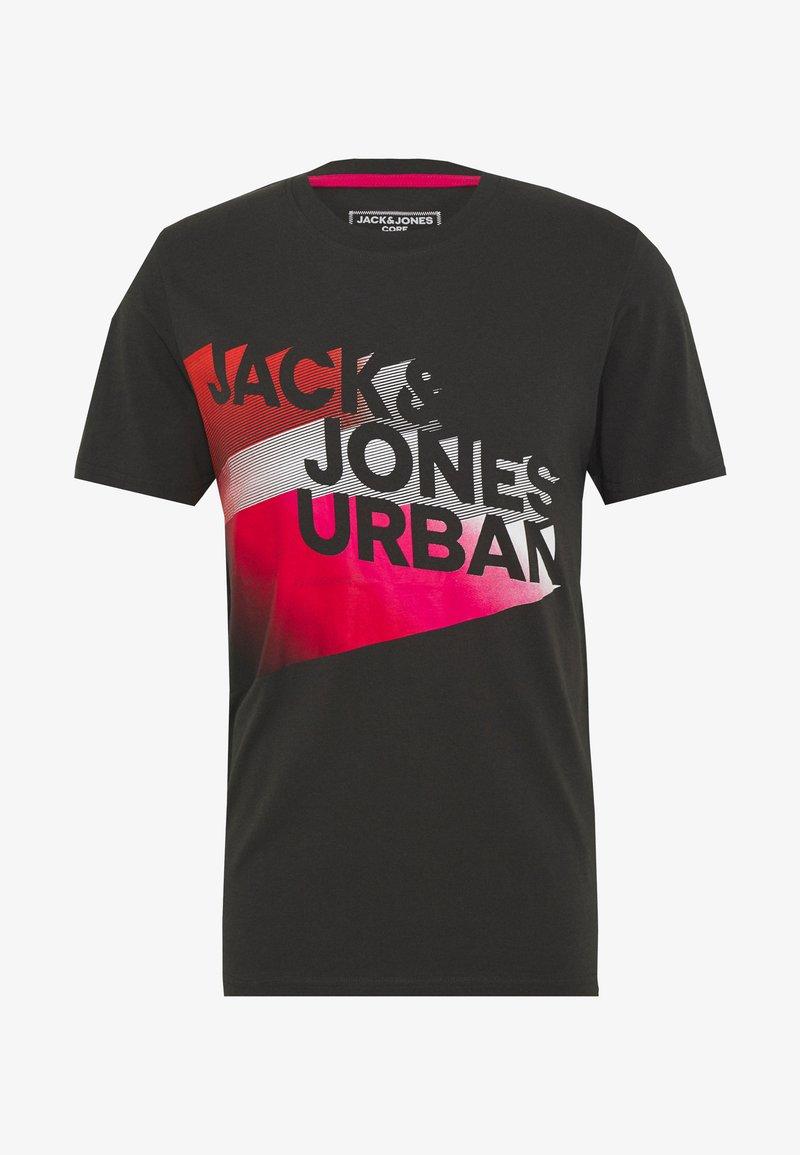 Jack & Jones - T-SHIRT VORDERLOGO - Printtipaita - pirate black