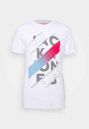 JCOSOUL TEE CREW NECK  - Printtipaita - white