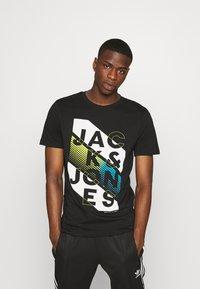 Jack & Jones - JCOSOUL TEE CREW NECK  - T-shirt print - black - 0