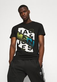 Jack & Jones - JCOSOUL TEE CREW NECK  - T-shirt print - black - 3