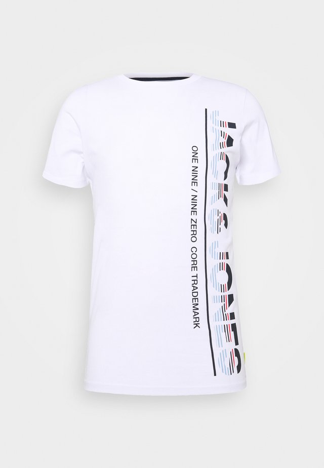 JCOSTRUCTURE TEE CREW NECK - T-shirt con stampa - white