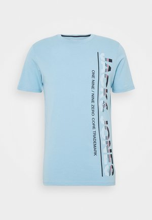 JCOSTRUCTURE TEE CREW NECK - T-shirt z nadrukiem - dusk blue