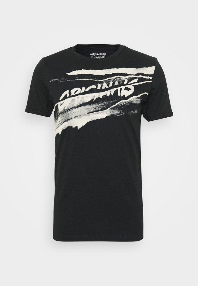JORPOLA - T-shirt con stampa - black