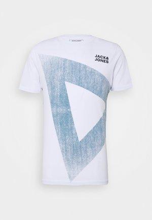JCOWOOD TEE CREW NECK - T-shirt print - white