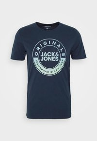 Jack & Jones - JORCRUISE TEE CREW NECK - Print T-shirt - navy blazer - 0