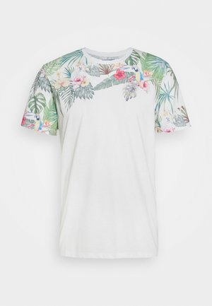 JORTROPICALBIRDS PLACE TEE CREW - T-shirt imprimé - cloud dancer