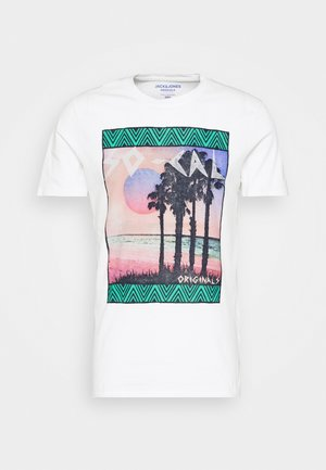 JORSOCAL CREW NECK - Print T-shirt - cloud dancer