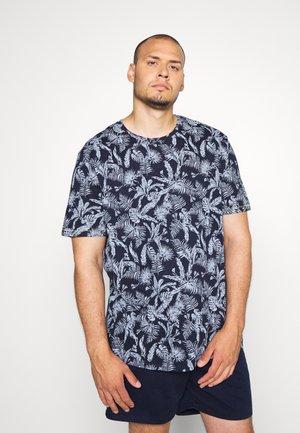 JORELRON TEE CREW NECK - Print T-shirt - navy blazer