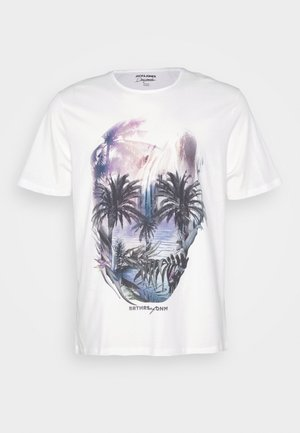 JORRAF TEE CREW NECK  - Print T-shirt - cloud dancer
