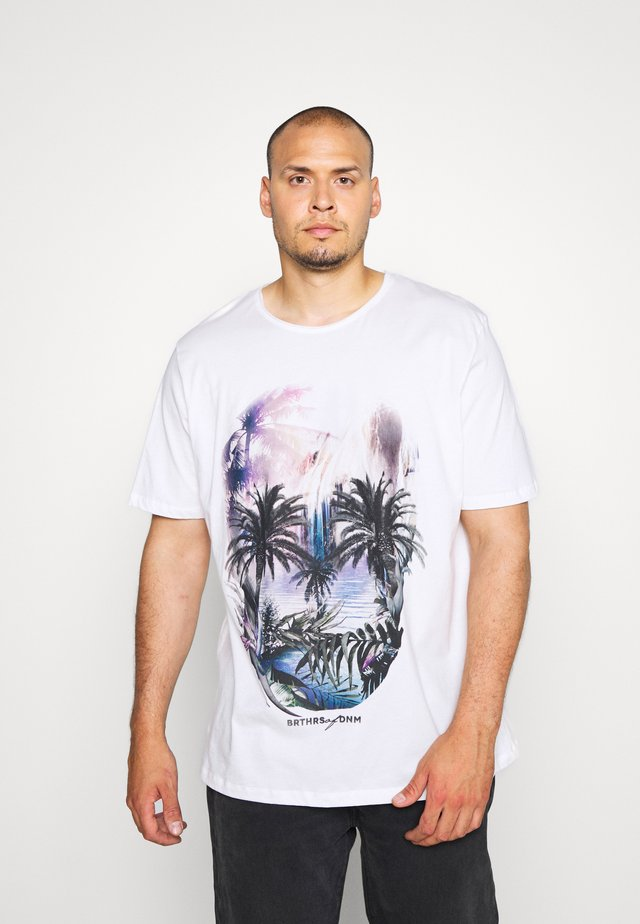 JORRAF TEE CREW NECK  - T-Shirt print - cloud dancer