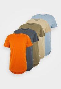 Jack & Jones - JJENOA TEE CREW NECK 5 PACK - T-shirts - crockery/ombr/hawaiia/fade/dusty - 7