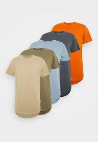 Jack & Jones - JJENOA TEE CREW NECK 5 PACK - T-shirts - crockery/ombr/hawaiia/fade/dusty - 8