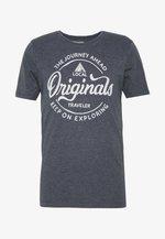 JORNAMEN TEE CREW NECK - T-shirt print - navy blazer