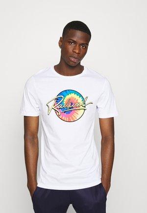 JORBILLY TEE CREW NECK - T-shirt z nadrukiem - white