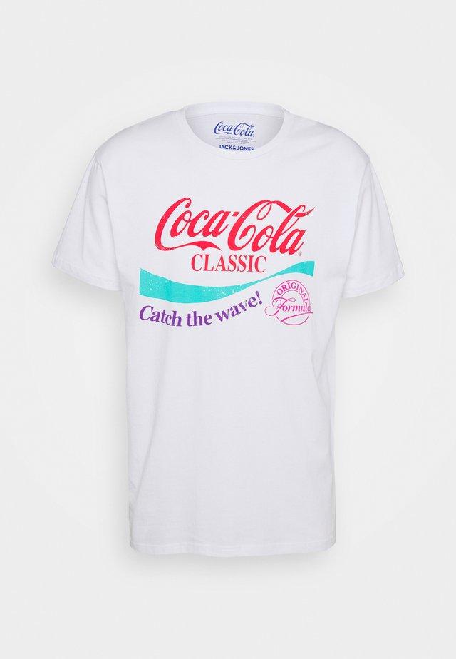 JORFESTIVAL LICENS TEE CREW NECK - T-shirt imprimé - white