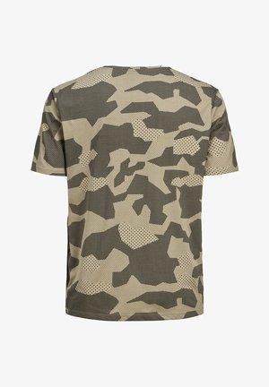 JACK & JONES PLUS SIZE T-SHIRT CAMOPRINT- - T-shirt med print - dune