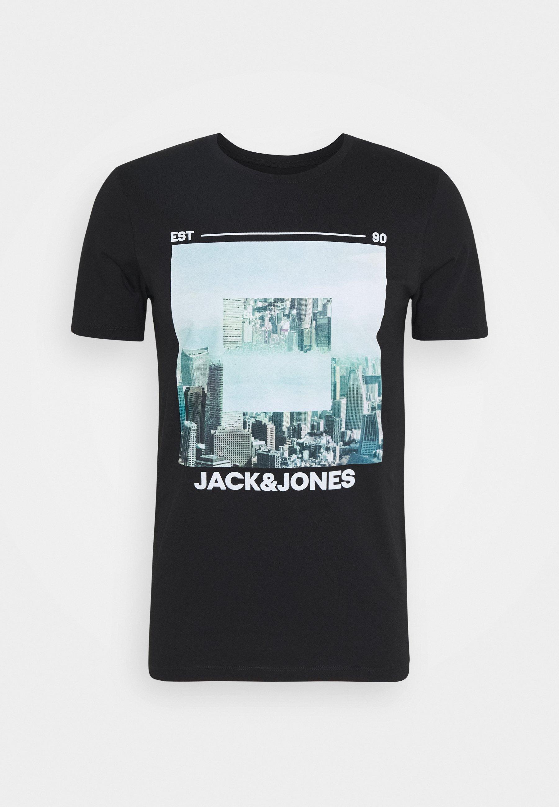 zalando jack &jones t jirt black