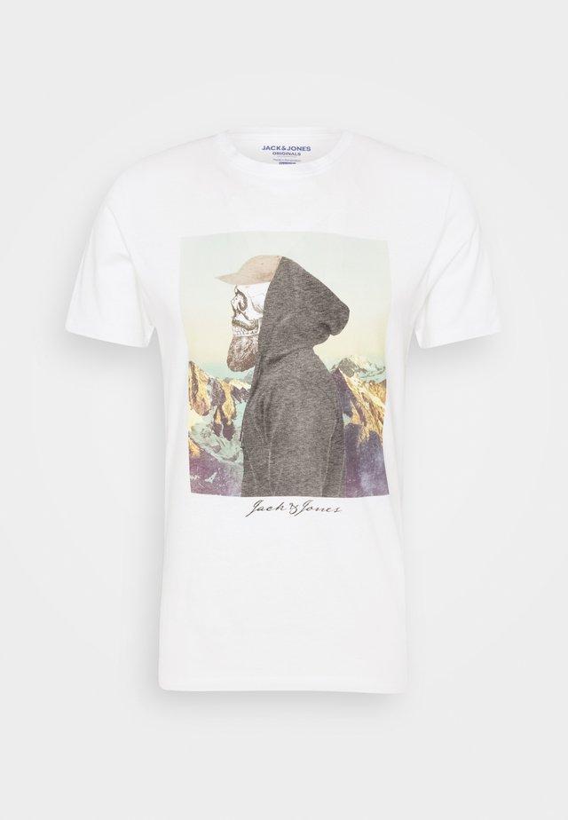 JORSKULLING TEE CREW NECK - T-shirt con stampa - cloud dancer