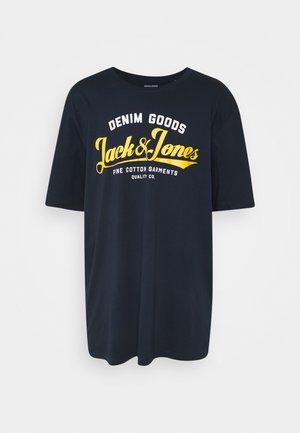 JJELOGO  - Print T-shirt - navy blazer
