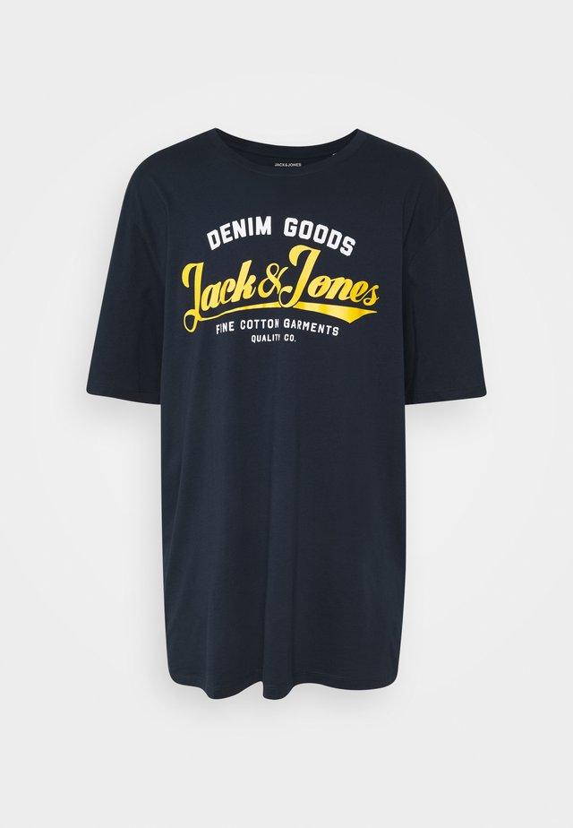 JJELOGO  - T-shirt z nadrukiem - navy blazer