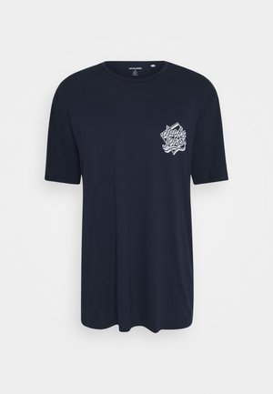 JORBRAD TEE  - Print T-shirt - navy blazer