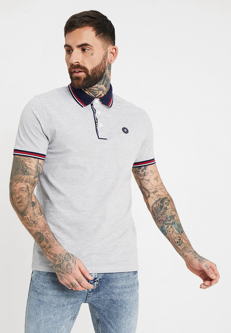 Jack & Jones - JCOCHALLENGE REGULAR FIT - Koszulka polo - light grey melange