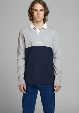 JORRUGBY POLO LONG SLEEVE - Polo - light grey melange