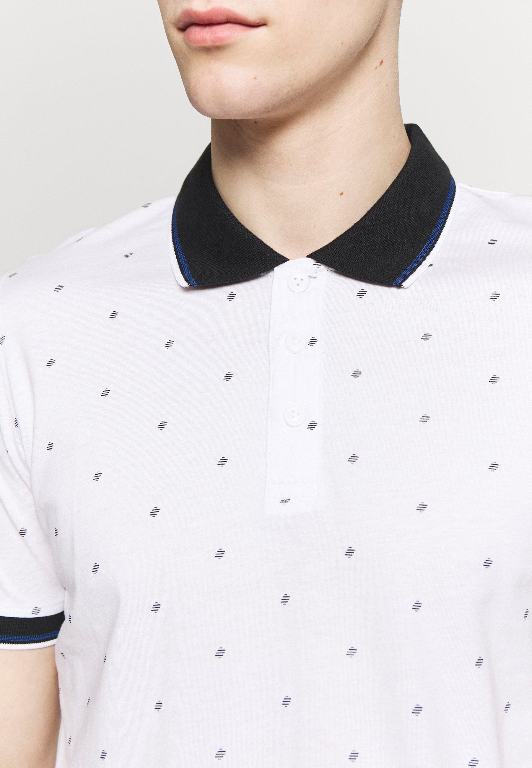 Jack & Jones JCOCARLO POLO - Koszulka polo - white melange