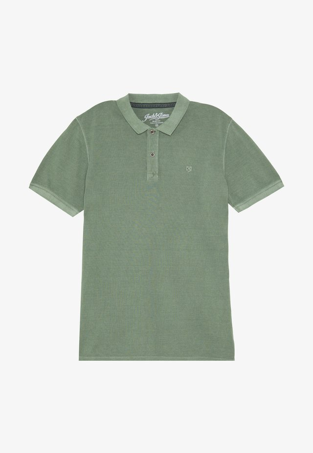 Poloshirt - mottled teal