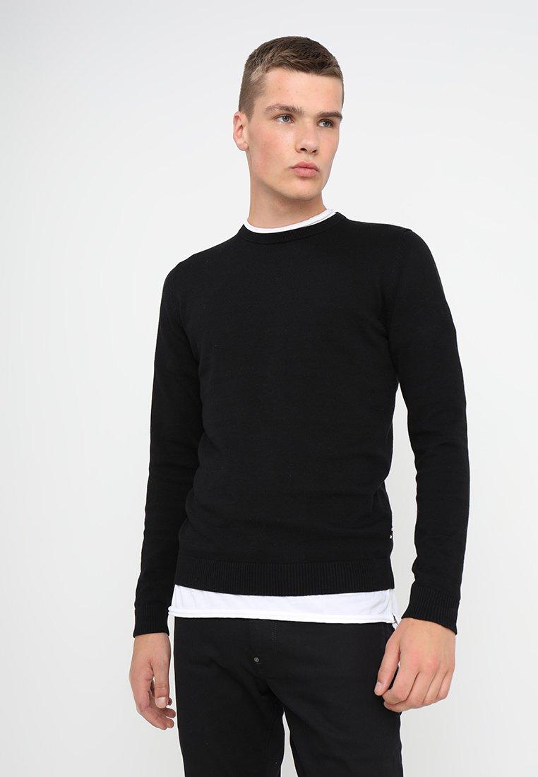 Jack & Jones - JJEBASIC - Stickad tröja - black