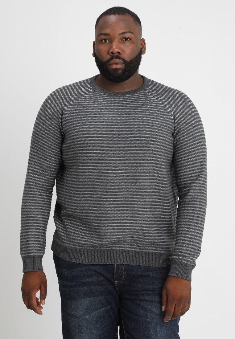 Jack & Jones - COWIND - Sweter - dark grey melange