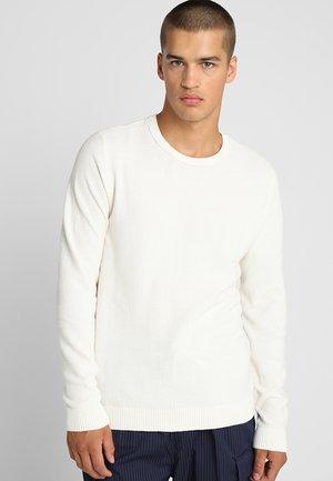 JJESTRUCTURE CREW NECK  - Sweter - beige