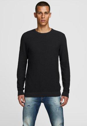 JJESTRUCTURE CREW NECK  - Stickad tröja - black