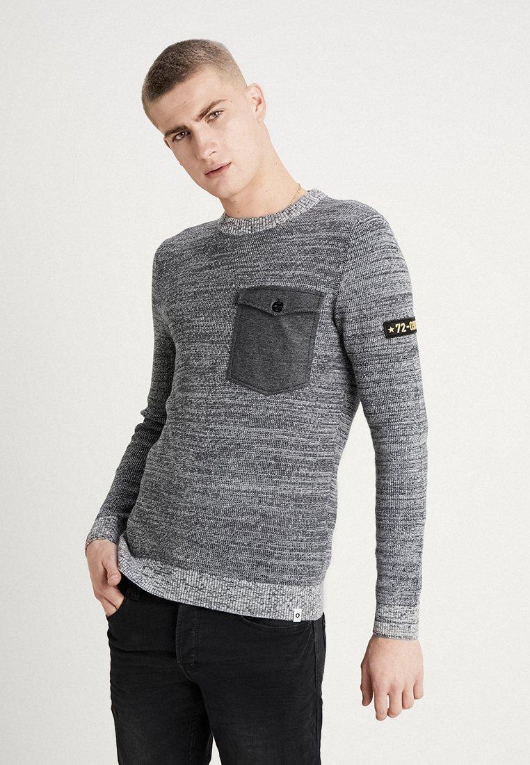 Jack & Jones - JCOCRAFTCREW NECK - Jersey de punto - light grey melange