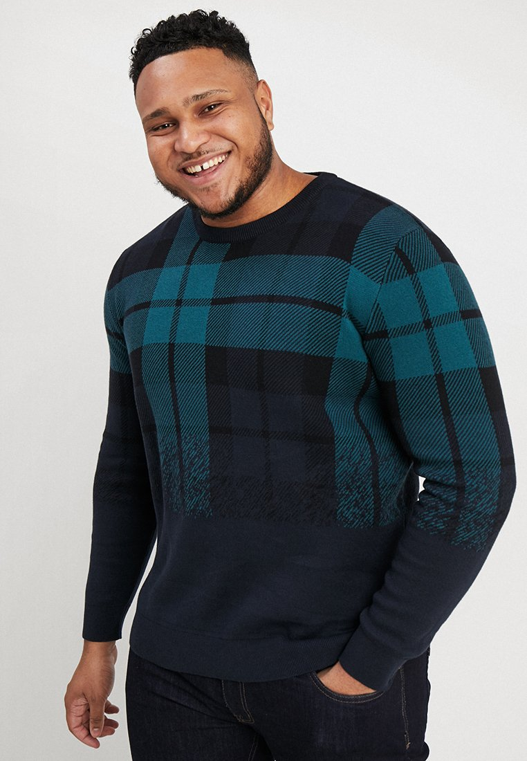 Jack & Jones - JORTATE CREW NECK  - Strickpullover - total eclipse