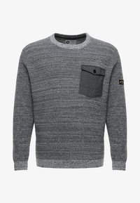 Jack & Jones - JCOCRAFT KNIT CREW NECK - Neule - light grey melange - 4