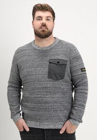 Jack & Jones - JCOCRAFT KNIT CREW NECK - Neule - light grey melange - 0