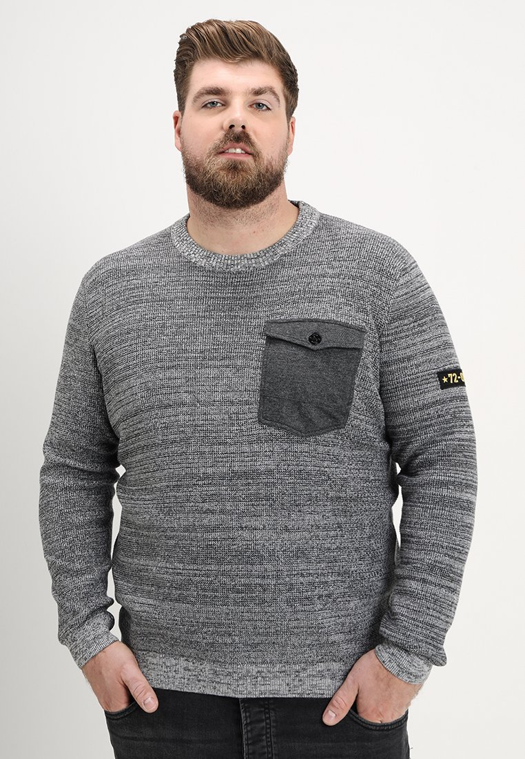 Jack & Jones - JCOCRAFT KNIT CREW NECK - Neule - light grey melange