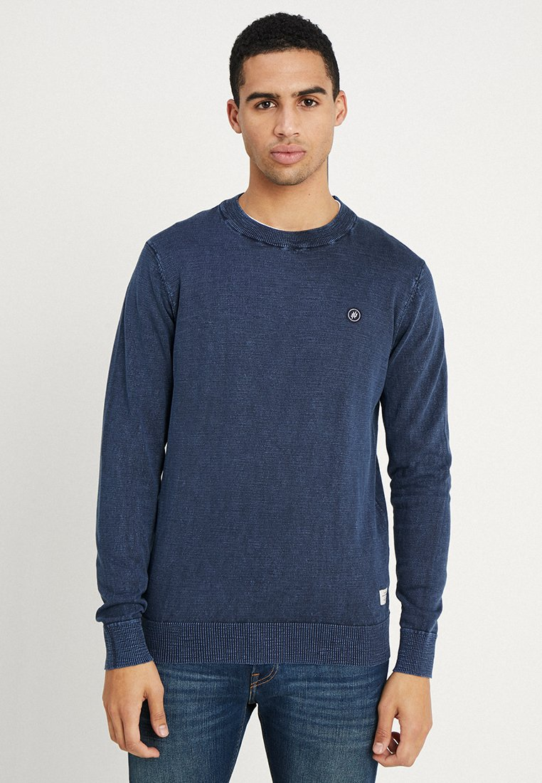 Jack & Jones - JORSLY CREW NECK - Stickad tröja - total eclipse