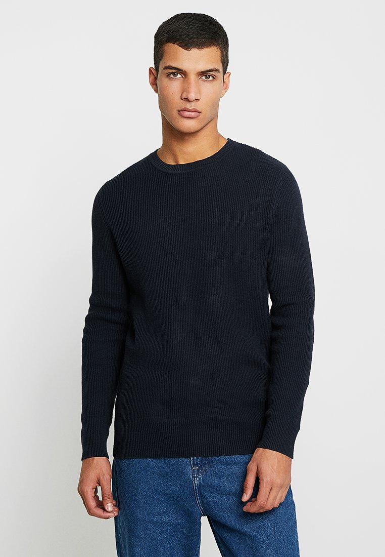 Jack & Jones - JORPOPPI CREW NECK - Strickpullover - total eclipse