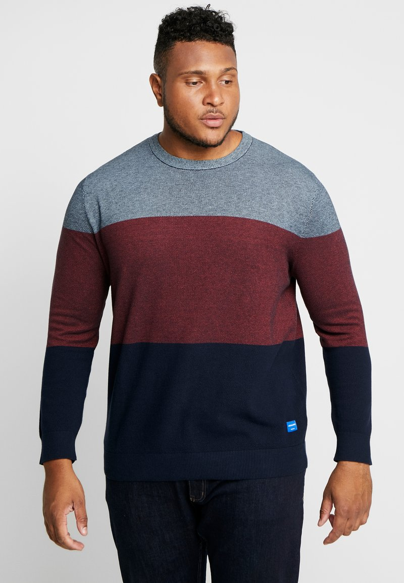 Jack & Jones - JORFLASH KNIT CREWNECK  - Strikkegenser - forget-me-not