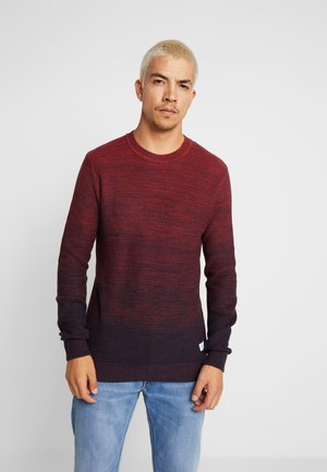 JORFAME CREW NECK - Jersey de punto - brick red